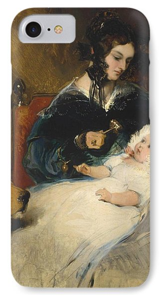 The Duchess Of Abercorn And Child IPhone Case by Edwin Henry