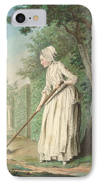 The Duchess Of Chaulnes As A Gardener In An Allee IPhone Case