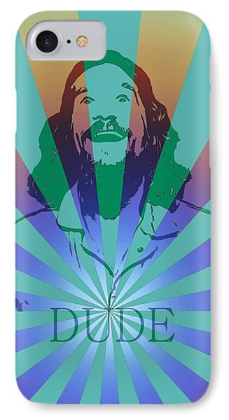 The Dude Pyschedelic Poster IPhone Case by Dan Sproul