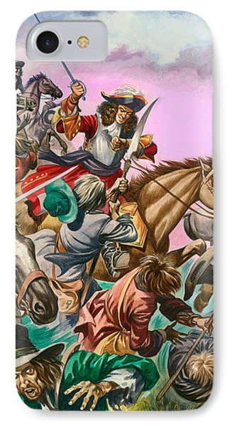 The Duke Of Monmouth At The Battle Of Sedgemoor IPhone Case by Peter Jackson