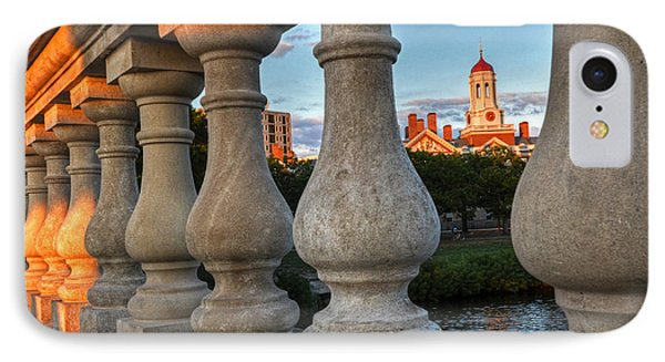 The Dunster House Through The John Weeks Bridge Harvard Square IPhone Case by Toby McGuire
