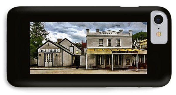 The Eagle Theater And Skalet Family Jewelers Old Sacramento IPhone Case by Thom Zehrfeld