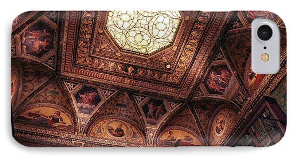 IPhone 7 Case featuring the photograph The East Room Ceiling by Jessica Jenney