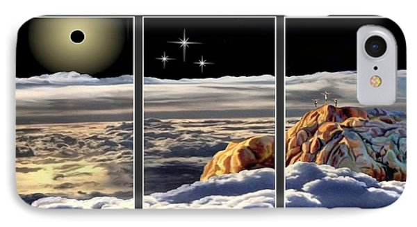 The Eclipse At Calvary Split Image IPhone Case