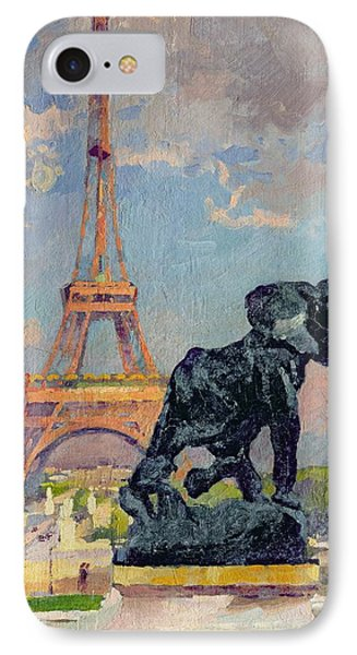 The Eiffel Tower And The Elephant By Fremiet IPhone Case