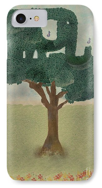 IPhone Case featuring the painting The Elephant Tree by Bri B
