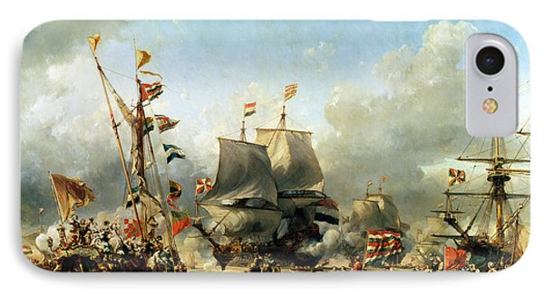 The Embarkation Of Ruyter And William De Witt In 1667 Phone Case by Louis Eugene Gabriel Isabey