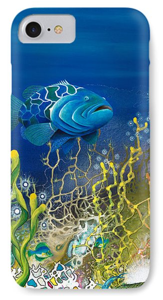 The Emerald Grouper IPhone Case by Lee Pantas