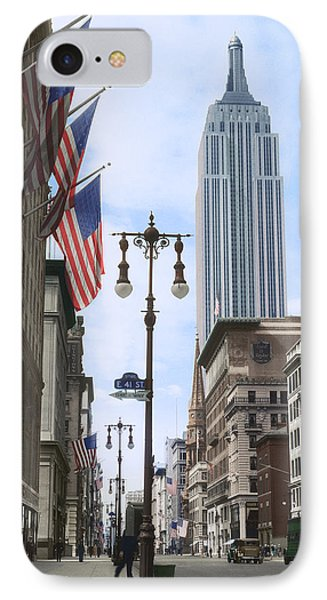 The Empire State, 1933 IPhone Case by Deborah J Humphries