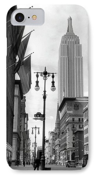 The Empire State Building Circa 1933 IPhone Case by Jon Neidert