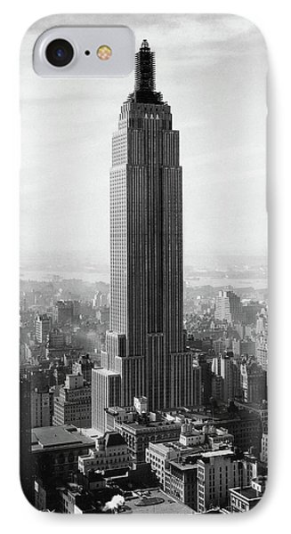 The Empire State Building Under Construction IPhone Case by Jon Neidert