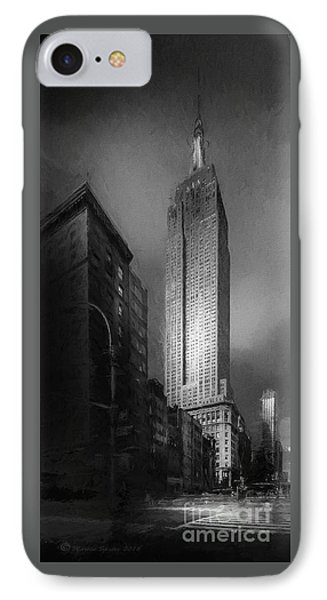 IPhone Case featuring the photograph The Empire State Ch by Marvin Spates