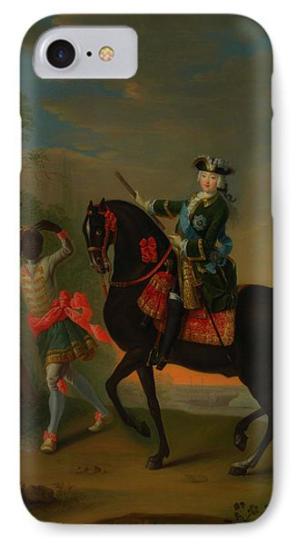 IPhone Case featuring the painting The Empress Elizabeth Of Russia by Georg Grooth