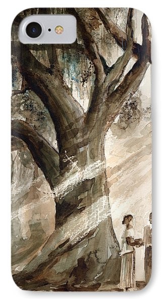 The Encounter IPhone Case by Arline Wagner