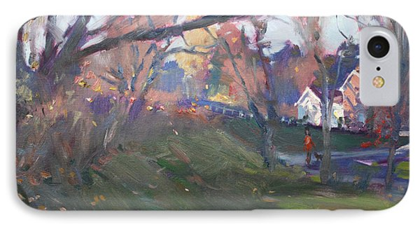 The End Of Autumn Day In Glen Williams On IPhone Case by Ylli Haruni
