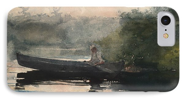 The End Of The Day Adirondacks IPhone Case by Winslow Homer