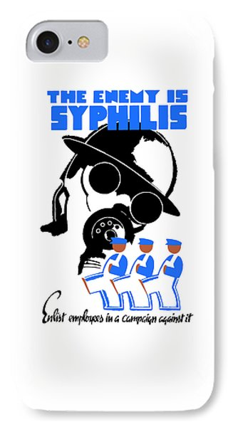 The Enemy Is Syphilis Phone Case by War Is Hell Store