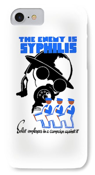 The Enemy Is Syphilis IPhone Case by War Is Hell Store