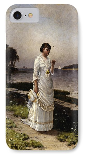 The Engagement Ring IPhone Case by Alfred Thompson Bricher