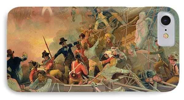 The English Navy Conquering A French Ship Near The Cape Camaro IPhone Case by English School