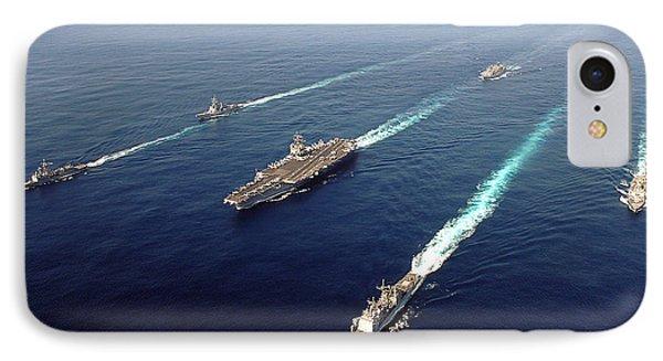 The Enterprise Carrier Strike Group Phone Case by Stocktrek Images