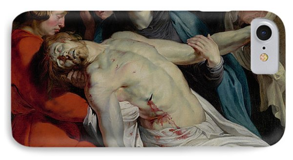 The Entombment By Peter Paul Rubens IPhone Case by Esoterica Art Agency