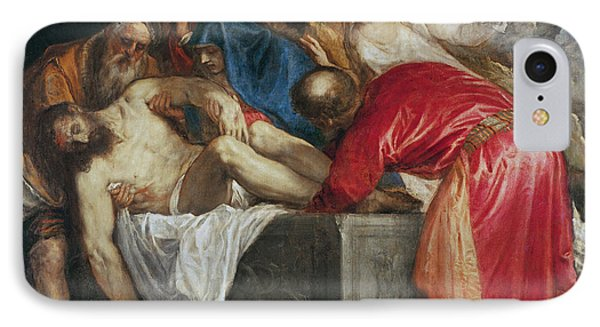 The Entombment Of Christ Phone Case by Titian