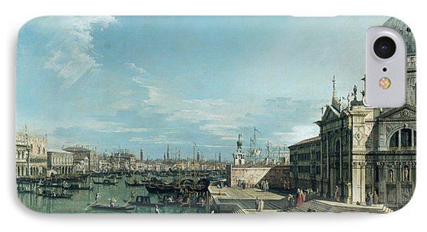 The Entrance To The Grand Canal And The Church Of Santa Maria Della Salute Phone Case by Canaletto