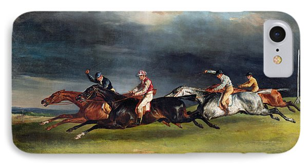 The Epsom Derby Phone Case by Theodore Gericault
