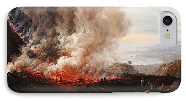 The Eruption Of Vesuvius IPhone Case by Johan Christian Dahl
