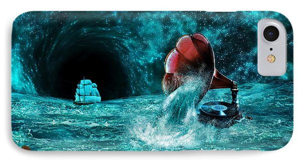 IPhone Case featuring the digital art The Eternal Ballad Of The Sea by Olga Hamilton