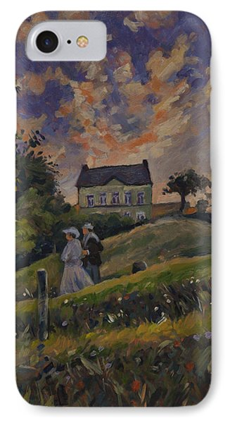 The Evening Stroll Around The Hoeve Zonneberg IPhone Case by Nop Briex