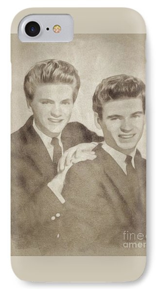 The Everly Brothers, Music Legends By John Springfield IPhone Case by John Springfield