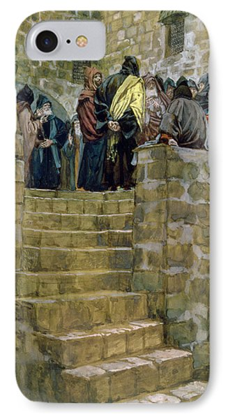 The Evil Counsel Of Caiaphas Phone Case by Tissot