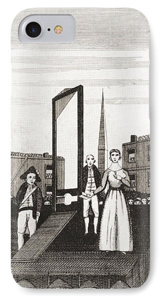 The Execution Of Charlotte Corday IPhone Case by Vintage Design Pics