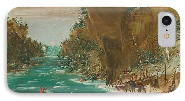 The Expedition Encamped Below The Falls Of Niagara IPhone Case by Mountain Dreams