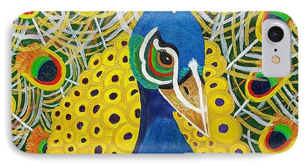 The Eye Of The Peacock IPhone Case by Margaret Harmon