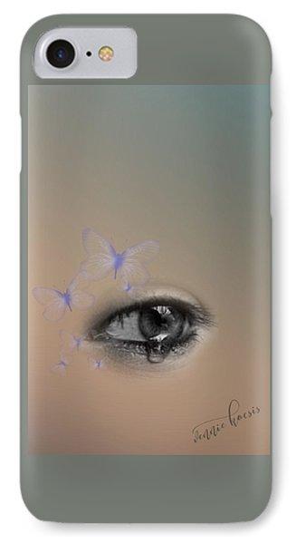 The Eyes Don't Lie IPhone Case by Vennie Kocsis