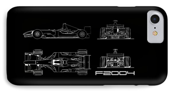 The F2004 Gp Blueprint IPhone Case