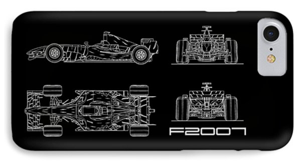 The F2007 Gp Blueprint IPhone Case