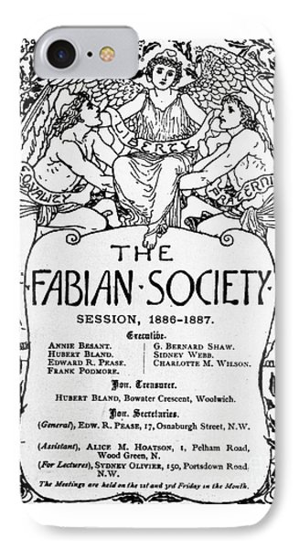 The Fabian Society Report IPhone Case by Walter Crane