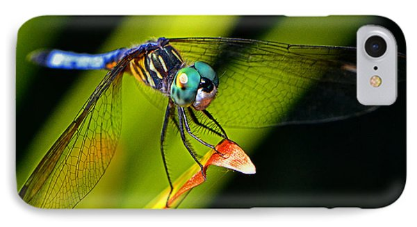 IPhone Case featuring the photograph The Face Of A Dragonfly 003 by George Bostian