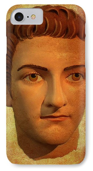The Face Of Caligula IPhone Case by Nigel Fletcher-Jones