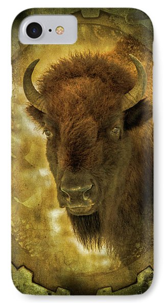 The Face Of Tatanka IPhone Case by TL Mair