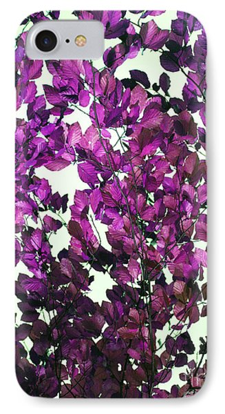 IPhone Case featuring the photograph The Fall - Intense Fuchsia by Rebecca Harman