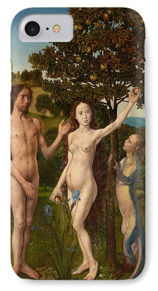 The Fall Of Man And The Lamentation IPhone Case by Hugo van der Goes