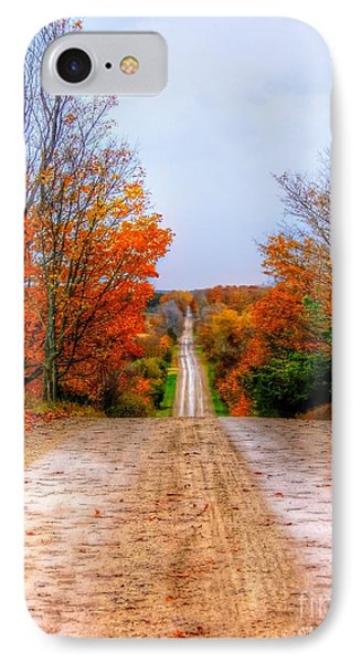 The Fall Road Phone Case by Michael Garyet