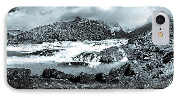IPhone Case featuring the photograph The Falls In Black And White by Andrew Matwijec