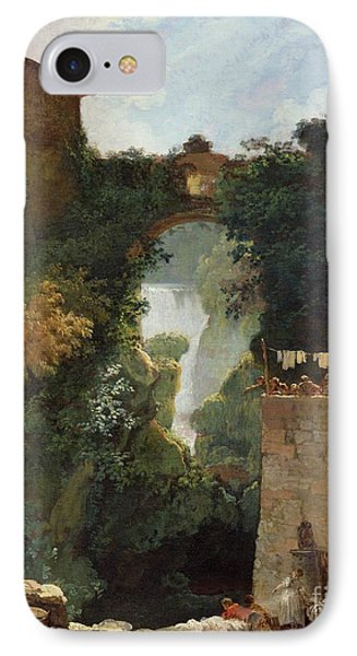 The Falls Of Tivoli IPhone Case by Jean Honore Fragonard