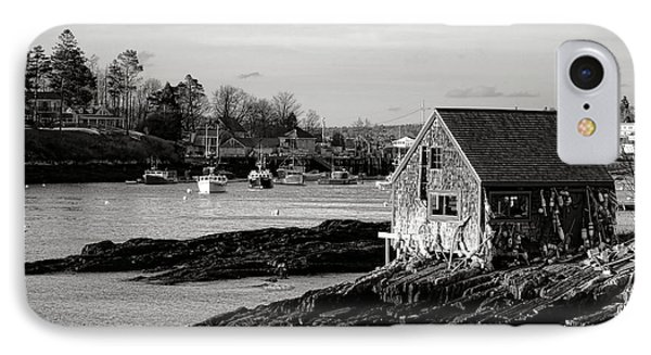 The Famous Lobsterman Shack On Mackerel Cove  IPhone Case by Olivier Le Queinec
